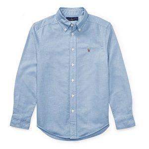 Ralph Lauren Boys Solid Long-Sleeve Oxford Shirt